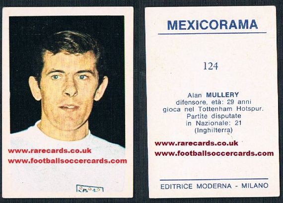 1970 Alan Mullery 124 Mexicorama